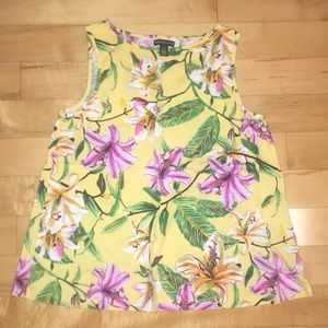 American Living Floral tank top size L